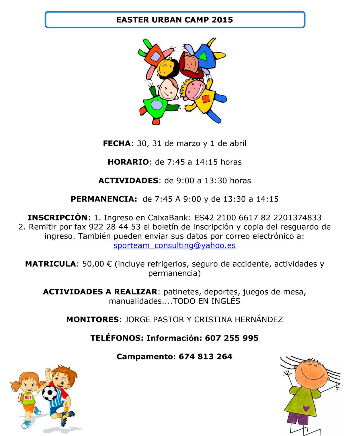 Colegio Hispano Inglés Página 13 Sporteam Consulting Sl