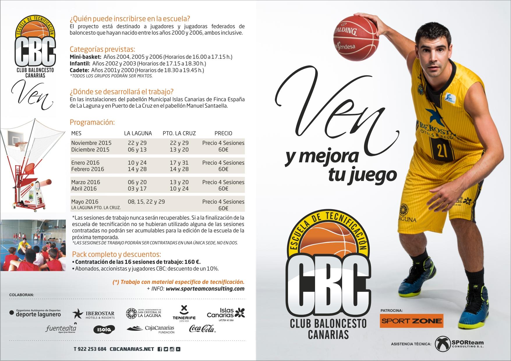 SPORteam Consulting asesora la Escuela de Tecnificación del CB Canarias 2015-16